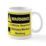 Caffeine Warning Dietary on Back of Mug
