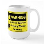 Caffeine Warning Dietary on Back of Large Mug