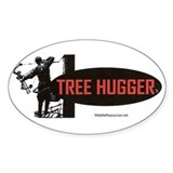 Tree Hugger Oval Bumper Stickers