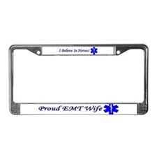EMT Wife License Plate Frame