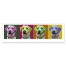 Grace the Yellow Labrador Bumper Bumper Sticker