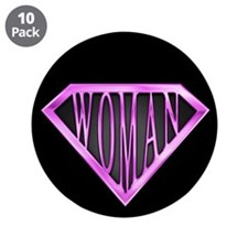 "SuperWoman(Pink) 3.5"" Button (10 pack)"