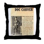 Doc Carver Throw Pillow
