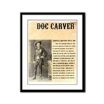 Doc Carver Framed Panel Print