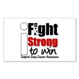I Fight Strong To Win (LC) Rectangle Sticker 10 p