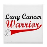 Lung Cancer Warrior Tile Coaster