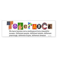 Tolerance Bumper Bumper Sticker