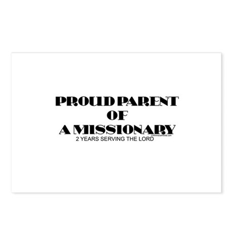 PROUD PARENT OF A MISSIONARY Postcards (Package of