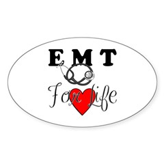 EMT For Life Sticker (Oval 50 pk)