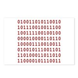 Merry Christmas Binary Square Postcards (Package o