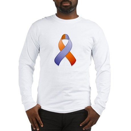 Orchid and Orange Awareness Ribbon Long Sleeve T-S