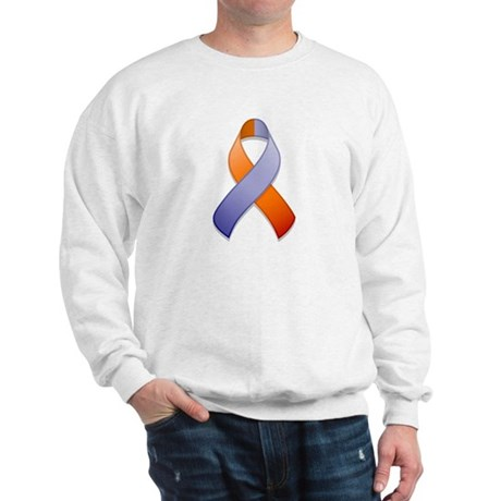 Orchid and Orange Awareness Ribbon Sweatshirt