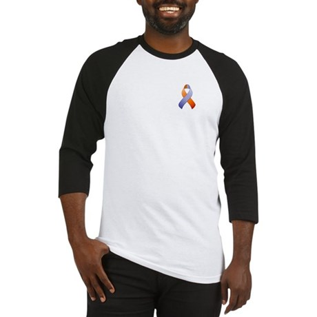 Orchid and Orange Awareness Ribbon Baseball Jersey