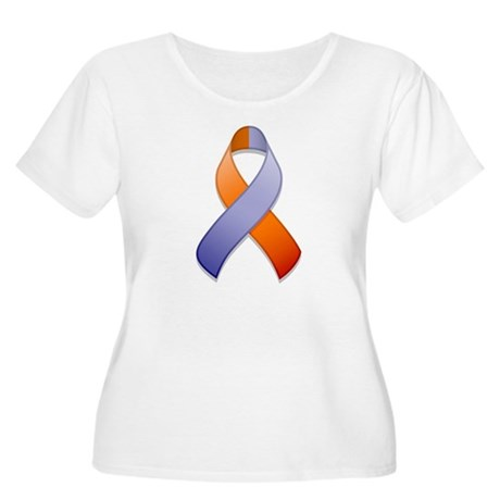 Orchid and Orange Awareness Ribbon Women's Plus Si