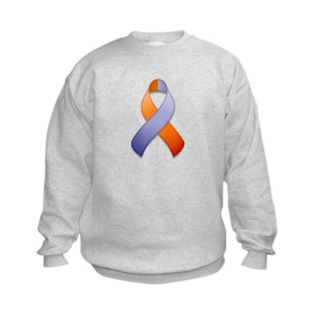 Orchid and Orange Awareness Ribbon Kids Sweatshirt
