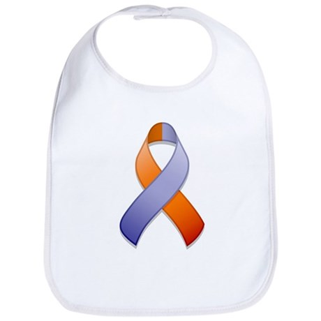 Orchid and Orange Awareness Ribbon Bib