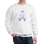 Pink White & Blue Ribbon Sweatshirt