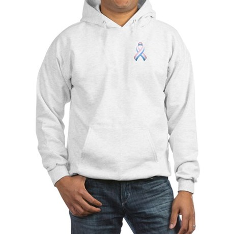 Pink White & Blue Ribbon Hooded Sweatshirt
