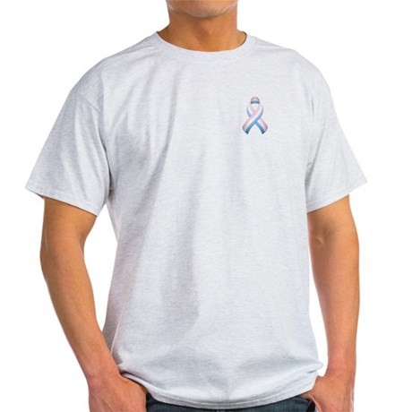 Pink White & Blue Ribbon Light T-Shirt