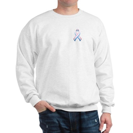 Pink White & Blue Ribbon Sweatshirt