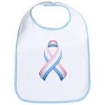 Pink White & Blue Ribbon Bib