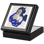 Noble Fantasy Grey horse Keepsake Box