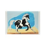 Running Paint Horse Rectangle Magnet (10 pack)