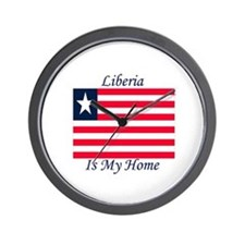 Liberia is my Home Wall Clock