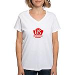 U.S. Radio Women's V-Neck T-Shirt