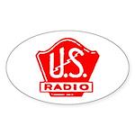 U.S. Radio Oval Sticker (10 pk)
