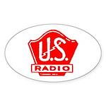 U.S. Radio Oval Sticker (50 pk)