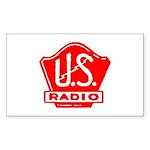 U.S. Radio Rectangle Sticker