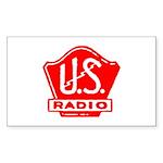 U.S. Radio Rectangle Sticker 50 pk)