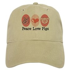 Peace Love Pigs Baseball Cap