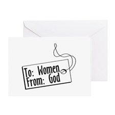 To Women, From God Greeting Card