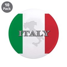 "Italian Flag Extra 3.5"" Button (10 pack)"