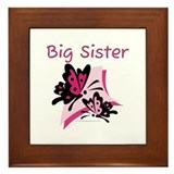 Butterflies Big Sister Framed Tile