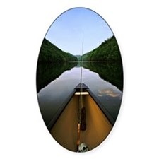 Canoe Fishing Oval Decal