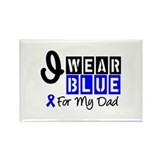 Blue Ribbon Dad Rectangle Magnet