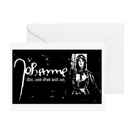 Joan of Arc (Act, and God wil Greeting Card