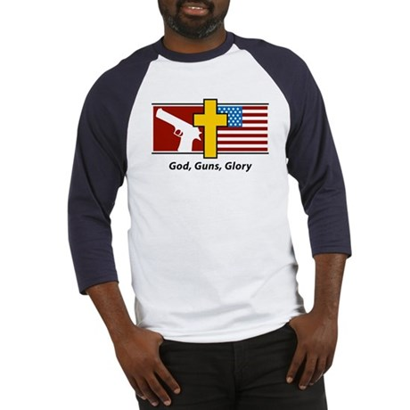 God Guns Glory Baseball Jersey