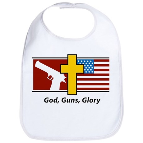 God Guns Glory Bib