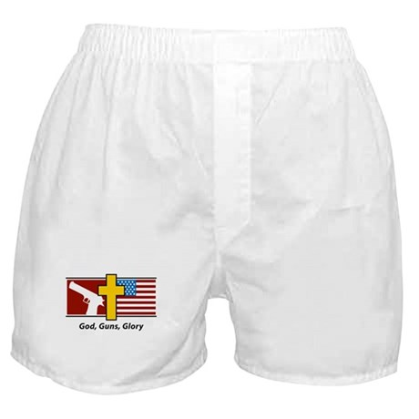 God Guns Glory Boxer Shorts