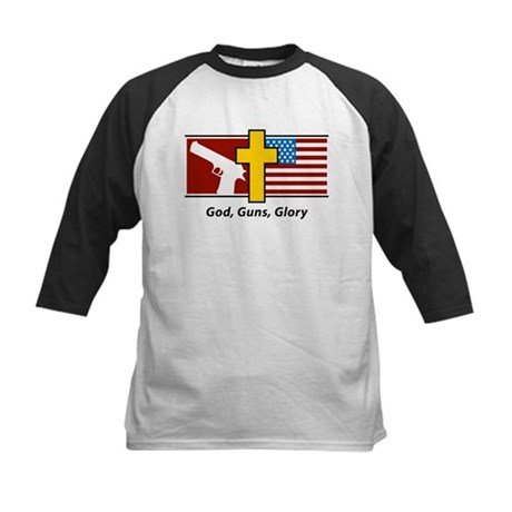 God Guns Glory Kids Baseball Jersey