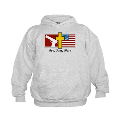 God Guns Glory Kids Hoodie