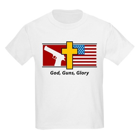 God Guns Glory Kids Light T-Shirt
