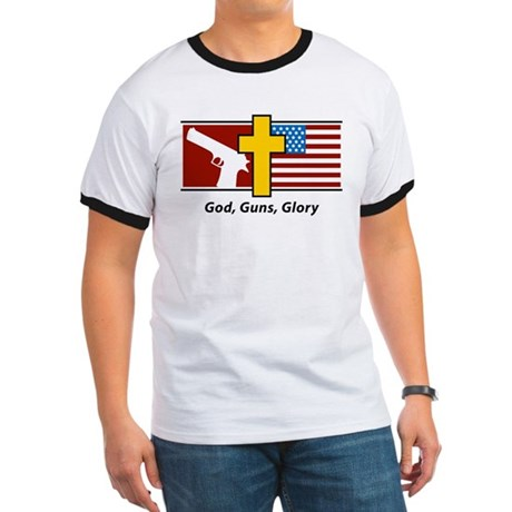 God Guns Glory Ringer T