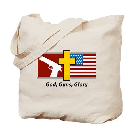 God Guns Glory Tote Bag