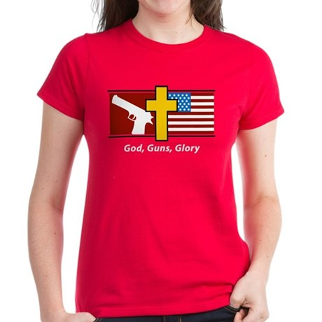 God Guns Glory Women's Dark T-Shirt