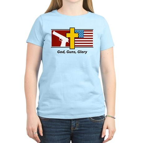 God Guns Glory Women's Light T-Shirt